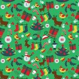 无缝的圣诞节传统样式 新年度节假日 免版税库存图片