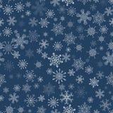 黑无缝的圣诞节样式以不同 免版税库存照片