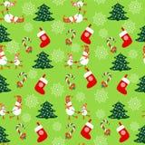 无缝的圣诞节样式-例证 库存照片