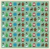 无缝的圣诞节样式 免版税库存图片
