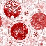 无缝的圣诞节模式 免版税库存图片