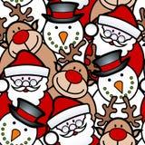 无缝的圣诞节背景 免版税库存图片