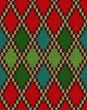无缝的圣诞节被编织的样式 免版税图库摄影