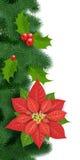 无缝的圣诞节装饰 库存图片