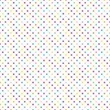 无缝的在白色的样式小的五颜六色的小点 向量例证