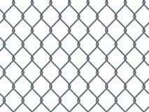 无缝的在白色的金属工业导线样式 库存例证