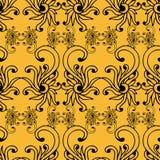 无缝的在葡萄酒样式的样式花卉背景的例证 传染媒介手拉的墙纸 免版税库存照片