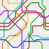 无缝的地铁模式 皇族释放例证