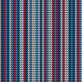 无缝的垂直的蓝色编织的墙纸 皇族释放例证