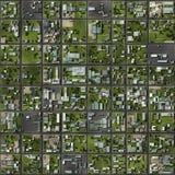 无缝的城市的概要计划 免版税库存照片