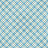 无缝的墙纸、格子花呢披肩、灰色和蓝色 向量例证
