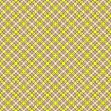 无缝的墙纸、格子花呢披肩、灰色和黄色 库存例证