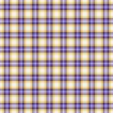 无缝的墙纸格子花呢披肩,淡紫色黄色 明亮的格子呢纹理 库存照片