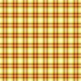 无缝的墙纸格子花呢披肩,黄色 明亮的格子呢纹理 库存照片