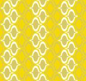 无缝的墙纸黄色 库存照片