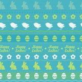 无缝的复活节水平的样式-绿色 免版税图库摄影