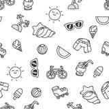 无缝的夏天纹理 免版税图库摄影