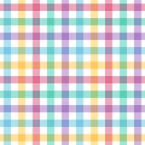 无缝的多彩多姿的方格的样式 库存图片