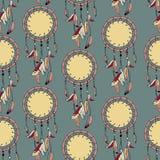 无缝的多色抽象装饰样式 库存图片