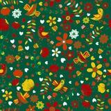 无缝的多色样式春天自然 对纺织品和包装 免版税图库摄影