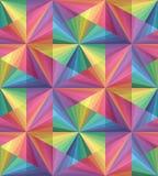 无缝的多角形五颜六色的透明样式 几何抽象的背景 免版税图库摄影