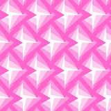 无缝的多角形桃红色样式 几何抽象的背景 免版税库存照片