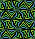 无缝的多角形蓝色和绿色样式 几何抽象的背景 库存图片