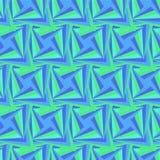 无缝的多角形蓝色和绿色样式 免版税图库摄影