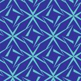 无缝的多角形蓝色样式 几何抽象的背景 库存图片