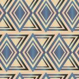 无缝的多角形金刚石样式 几何抽象的背景 图库摄影