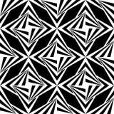 无缝的多角形黑白样式 几何抽象的背景 免版税库存照片