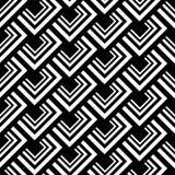 无缝的多角形黑白样式 几何抽象的背景 图库摄影