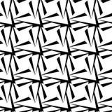 无缝的多角形黑白样式 几何抽象的背景 免版税图库摄影