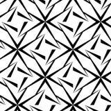 无缝的多角形黑白样式 免版税库存图片