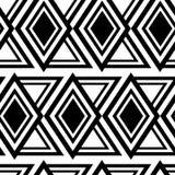 无缝的多角形黑白色和金刚石Patternn 几何抽象的背景 免版税图库摄影