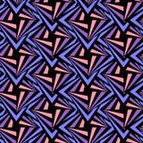 无缝的多角形紫罗兰色和黑样式 几何抽象的背景 库存图片