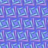 无缝的多角形紫罗兰色样式 几何抽象的背景 免版税库存照片