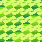 无缝的多角形绿色样式 几何抽象的背景 免版税库存照片