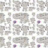 无缝的大象 免版税库存图片
