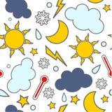 无缝的天气 向量例证