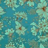 无缝的嫩花卉背景 免版税库存照片