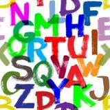 无缝的字母表 库存图片