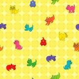 无缝的小猫样式 免版税图库摄影