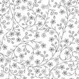 无缝的小的雏菊花纹花样 库存照片