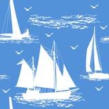无缝的小船背景 库存照片