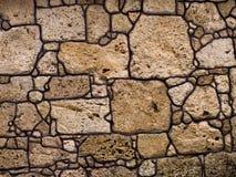 无缝的岩石石头背景 免版税库存图片