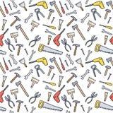无缝的工具背景 向量例证