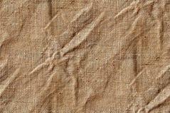 无缝的帆布或黄麻纹理 库存照片