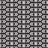 无缝的当地样式在黑白背景中 库存照片