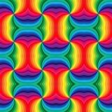 无缝的彩虹成螺旋形样式 几何抽象的背景 适用于纺织品,织品和包装 免版税库存照片